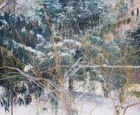 'DRASCHEPARK', 100x120, Öl auf Leinen, 1993
