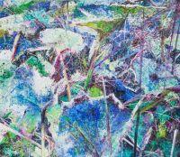 'EXTRA IN BLAU I', 70x80, Öl auf Leinen, 2007
